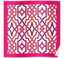classic lattice bright pink Poster