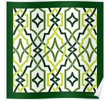 classic lattice emerald green Poster