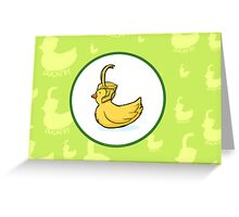 Ducki'd Greeting Card