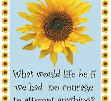 Vincent van Gogh Sunflower Quote by simpsonvisuals
