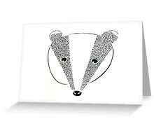 Badger 2 Greeting Card