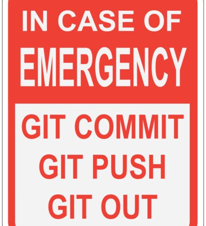 Git Out Sticker
