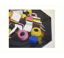 Liquorice Allsorts Art Print