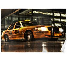 Yellow Cab  at Miami International Airport in Florida, USA Poster