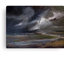 Storm over Norfolk coast Canvas Print