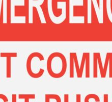 Git Emergency Sticker