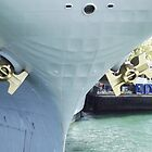 USS Midway's Golden Anchors by seeingred13
