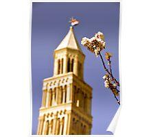 Spring's Return - St. Duje Cathedral Belltower, Split, Croatia Poster