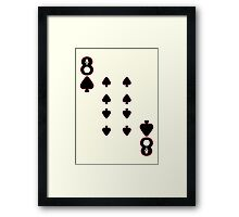 The Eight of Spades Framed Print