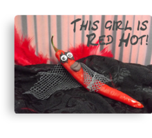 This girl is red hot Canvas Print