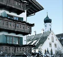 Winter Wonderland - Oberammergau, Bavaria, Germany by Tricia Mitchell