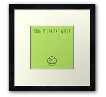 MCR - Sing Framed Print