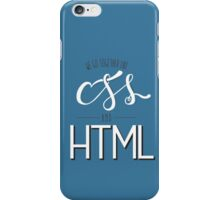 HTML & CSS iPhone Case/Skin