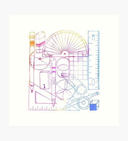 Math & Science Tools 2 Art Print