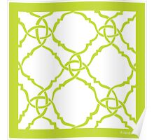 classic modern lattice bright yellow lime Poster