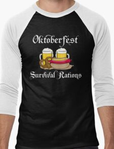 Oktoberfest Survival Rations Men's Baseball ¾ T-Shirt