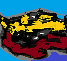 Cat/Kitten -(260313)- Digital art/Mouse drawing/Microsoft Paint by paulramnora