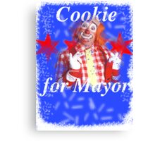 Cookie for Mayor Canvas Print