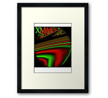 Psychedelic Xmas Framed Print
