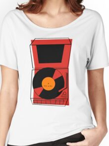 ROCK and ROLL Retro Vintage Record Player Phonograph Women's Relaxed Fit T-Shirt