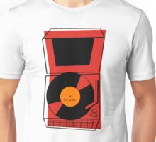 ROCK and ROLL Retro Vintage Record Player Phonograph Unisex T-Shirt