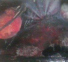 "11""x 28"" Red Cave Mountain by Keribleu"