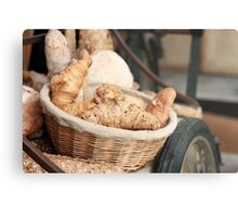 Fresh Bread and Croissants Metal Print