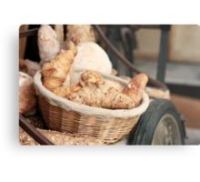 Fresh Bread and Croissants Metal Print