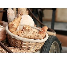 Fresh Bread and Croissants Photographic Print