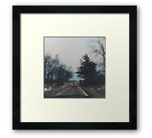 down country roads Framed Print