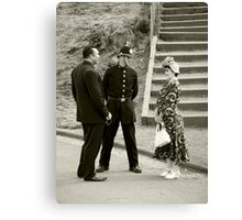 Black Country Police Officer Canvas Print