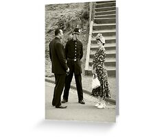 Black Country Police Officer Greeting Card