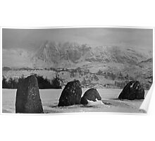 Castlerigg Stone Circle and Great Dodd. Poster