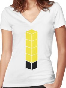 Tower of Pimps Women's Fitted V-Neck T-Shirt