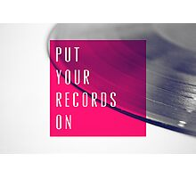 Records [Pink] Photographic Print