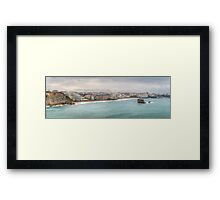 Biarritz Skyline - France Framed Print
