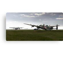 Lancasters on dispersal, colour version Canvas Print