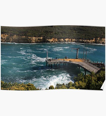Port Campbell shipping docks Poster