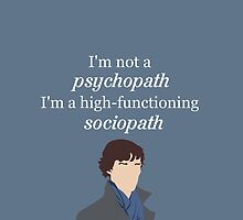 Sherlock BBC Sociopath by OutlineArt