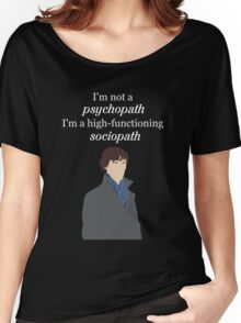 Sherlock BBC - Sociopath Quote Women's Relaxed Fit T-Shirt