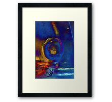 Good Bye day ocean, mixed media art Framed Print