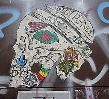 Skull Graffiti from Barcelona  by Punk60
