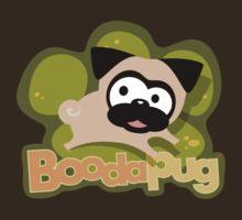 Petite Tugg Pawprint Logo Tee (Green) by boodapug