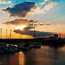 Caernarfon Harbour Sunset by Beverly Cash
