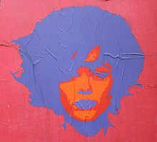"Warhol Stencil Graffiti ""Kate"" by Punk60"