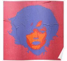 """Warhol Stencil Graffiti """"Kate"""" Poster"""