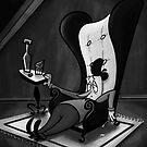 Artist In Chair by Freddie Elsom