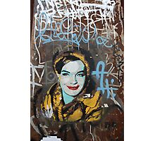 "Warhol Stencil Graffiti ""Ms.Fab"" Photographic Print"