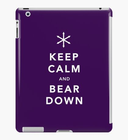 Keep Calm and Bear Down iPad Case/Skin