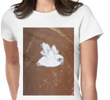 """Paper Paste Up Graffiti - """"Picasso Bird"""" Womens Fitted T-Shirt"""